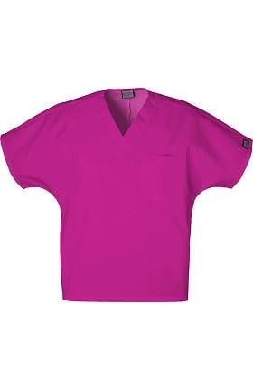 Cherokee Workwear Originals Unisex V-Neck 1-Pocket Solid Scrub Top