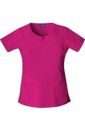 Clearance Cherokee Workwear Originals Women's Round Neck Solid Scrub Top