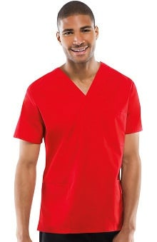 Cherokee Workwear Originals Unisex V-Neck 3-Pocket Solid Scrub Top