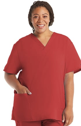 Cherokee Workwear Originals Unisex V-Neck 3-Pocket Solid Scrub Top