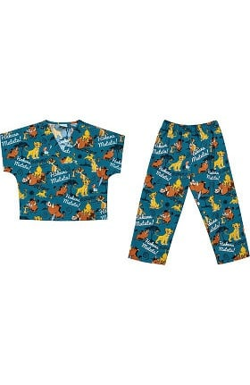Tooniforms by Cherokee Kid's Unisex Lion King Print Scrub Set