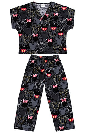 Tooniforms by Cherokee Kid's Unisex Disney Print Scrub Set