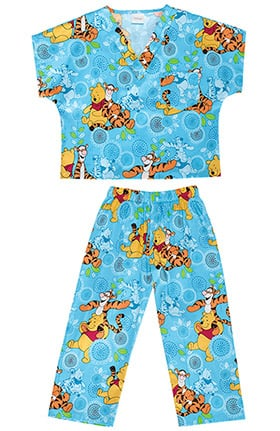 Clearance Tooniforms by Cherokee Kid's Unisex Disney Print Scrub Set