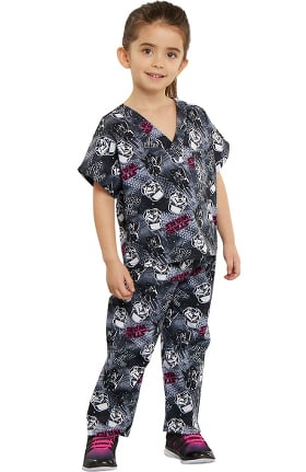 Clearance Tooniforms by Cherokee Kid's Unisex Star Wars Print Scrub Set