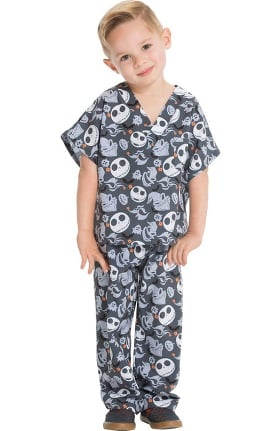 Tooniforms by Cherokee Unisex Kids Boogie With Jack Print Scrub Set