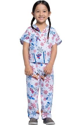 Tooniforms by Cherokee Unisex Kids Bumble Rumble Print Scrub Set