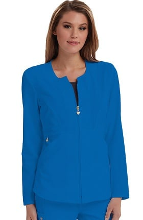Clearance Careisma by Sofia Vergara Women's Angelina Zip-Up Solid Scrub Jacket