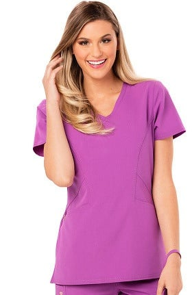 Clearance Careisma by Sofia Vergara Women's Sofia V-Neck Solid Scrub Top