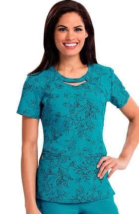 Careisma by Sofia Vergara Women's Audrey Cutout Neck Floral Print Top