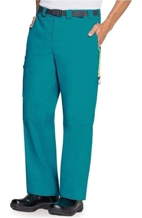 code happy Men's Straight Leg Belted Cargo Pant
