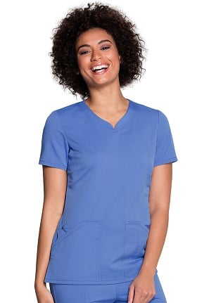 Cloud Nine by code happy Women's V-Neck Solid Scrub Top