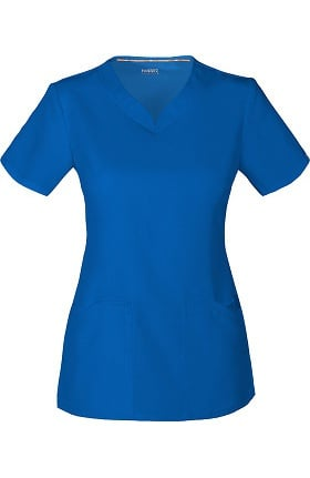 Clearance code happy Women's V-Neck Solid Scrub Top