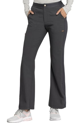STATEMENT by Cherokee Women's Buttoned Waistband Flare Leg Scrub Pant