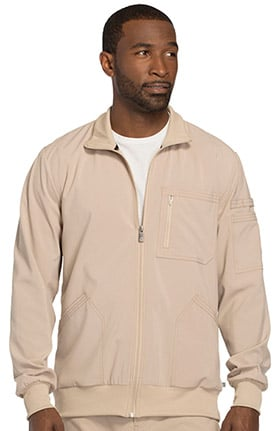 Clearance Infinity by Cherokee Men's Zip Front Warm-Up Solid Scrub Jacket