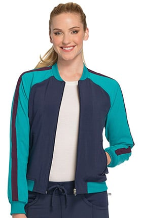 Clearance Infinity by Cherokee Women's Zip Front Raglan Sleeve Solid Scrub Jacket