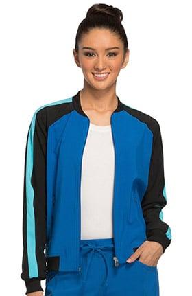 Clearance Infinity by Cherokee Women's Zip Front Raglan Sleeve Solid Scrub Jacket