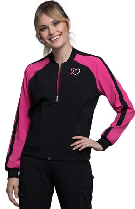 Clearance Infinity by Cherokee Women's Zip Front Colorblock Bomber Jacket