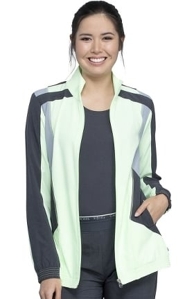 Infinity by Cherokee Women's Bomber Style Color Block Scrub Jacket