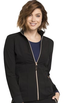 STATEMENT by Cherokee Women's Zip Front Solid Scrub Jacket