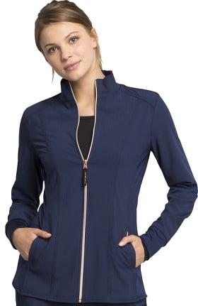 STATEMENT by Cherokee Women's Zip Front Solid Scrub Jacket