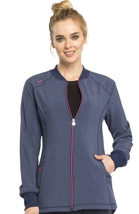 Infinity by Cherokee Women's Zip Front Solid Scrub Jacket