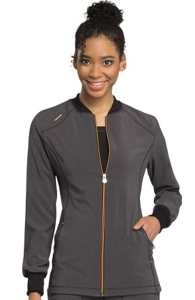 Clearance Infinity by Cherokee Women's Zip Front Solid Scrub Jacket