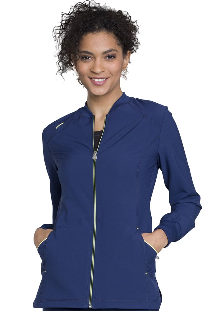 Clearance Infinity by Cherokee Women's Zip Front Solid ...