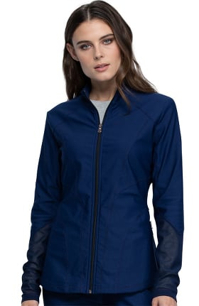 FORM by Cherokee Women's Zip Front Scrub Jacket