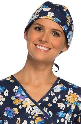 Cherokee Unisex Floral Print Scrub Hat