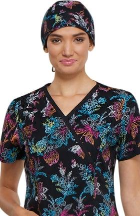 Fashion Prints by Cherokee Unisex Rainbow Print Scrub Hat