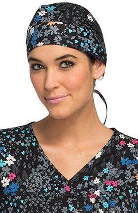Cherokee Women's Floral Print Scrub Hat