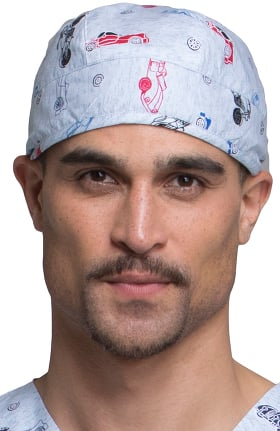 Tooniforms by Cherokee Unisex Speed Racer Print Scrub Hat