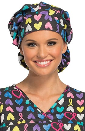 Cherokee Unisex Bouffant Awareness Print Scrub Hat