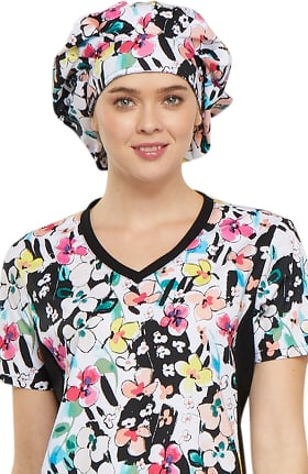 Fashion Prints by Cherokee Unisex Bouffant Floral Print Scrub Hat