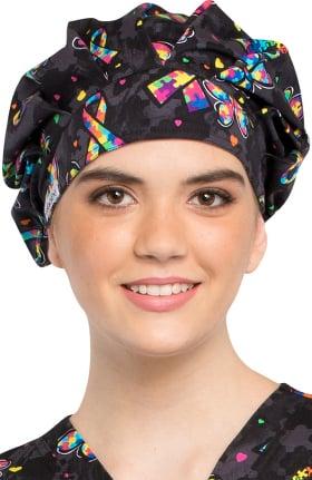 Fashion Prints by Cherokee Unisex Bouffant Awareness Print Scrub Hat