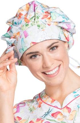 Cherokee Unisex Bouffant Breast Cancer Awareness Print Scrub Hat