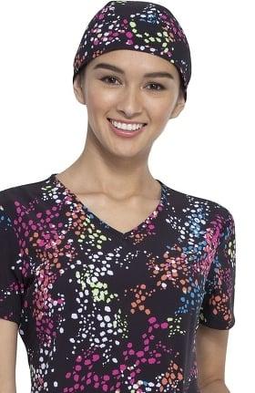 Fashion Prints by Cherokee Unisex Confetti Set Go Print Scrub Hat