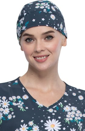 Fashion Prints by Cherokee Unisex Daydream Believer Print Scrub Hat
