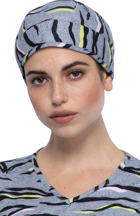 Fashion Prints by Cherokee Unisex Zebra Pop Print Scrub Hat
