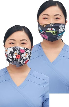 Clearance Cherokee Women's Reversible Sweet Flow Purramedics Print Face Mask