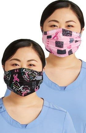 Cherokee Women's Reversible Wild For A Cure & Hope Print Face Mask