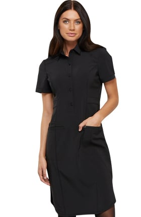 Infinity by Cherokee Women's 39 Button Front Scrub Dress