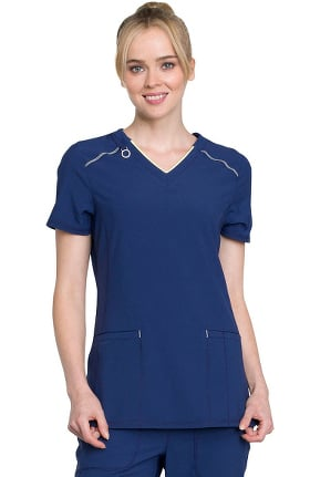 Infinity by Cherokee Women's V-Neck Solid Scrub Top