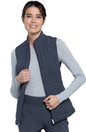 Infinity by Cherokee Women's Reversible Quilted Scrub Vest