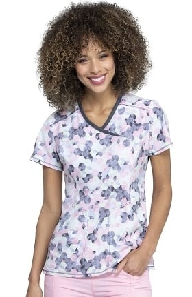 Clearance Infinity by Cherokee Women's Let's Go Places Print Scrub Top