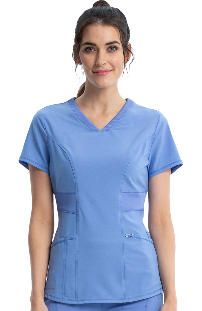 fa8db998764b Infinity by Cherokee Women s V-Neck Solid Scrub Top