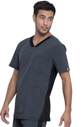 Clearance Infinity by Cherokee Men's V-Neck Solid Scrub Top