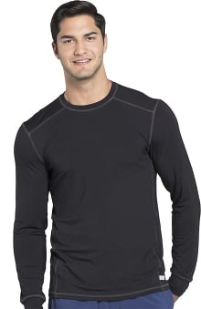 Infinity by Cherokee Men's Long Sleeve Solid Underscrub T-Shirt