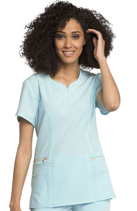 Clearance STATEMENT by Cherokee Women's Y-Neck Solid Scrub Top