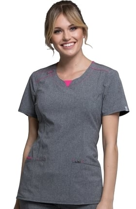 Infinity by Cherokee Women's Round Neck Solid Scrub Top